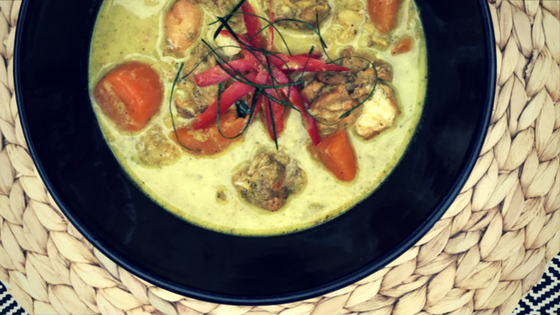 Creamy Golden Chicken and Kaffir Lime Curry