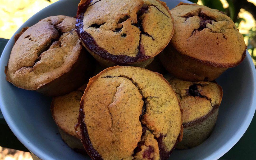 Easy Banana Berry Muffins