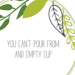 You can't pour from any empty cup - are you ok gut healing